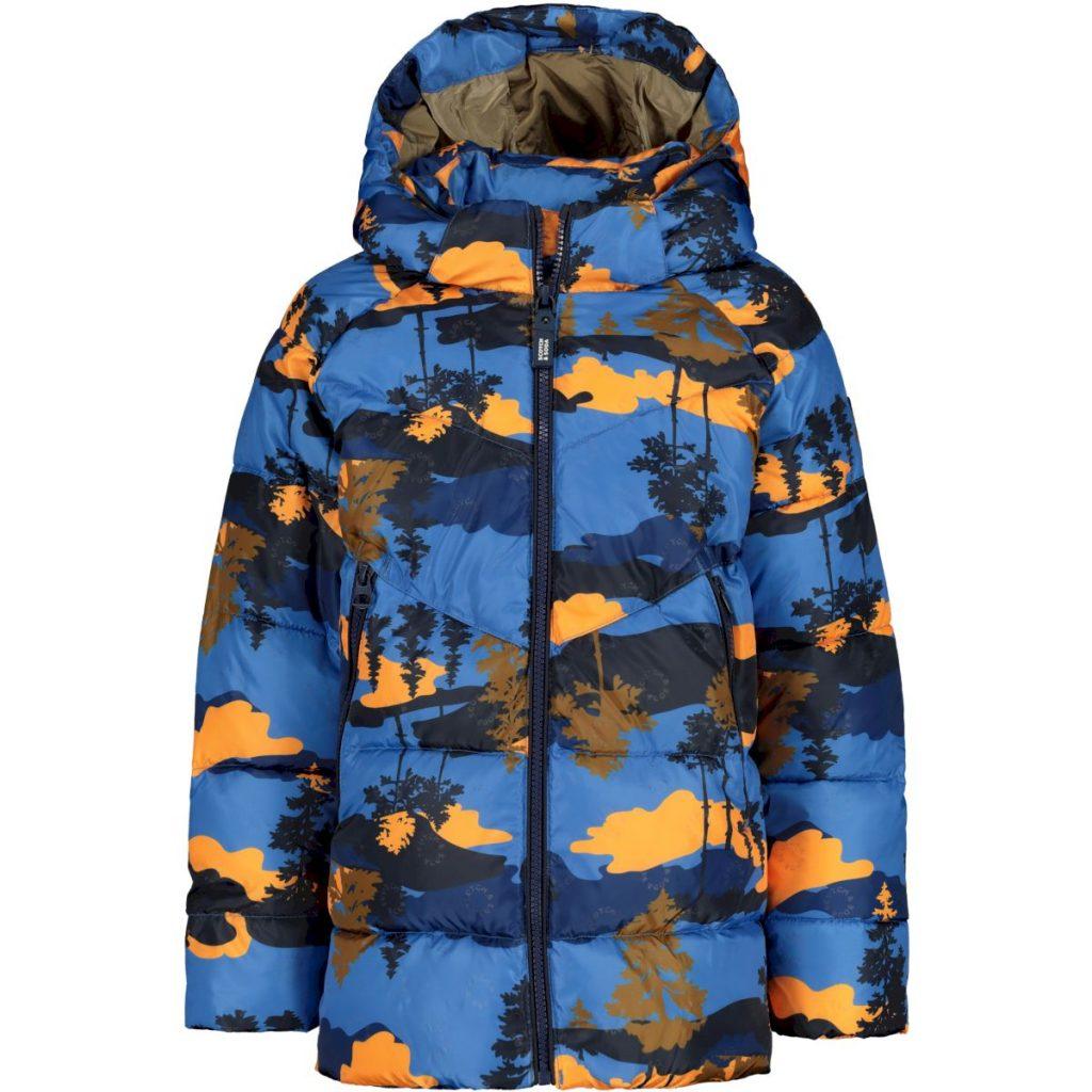 scotch en soda jongens winterjas,scotch & soda jongens jas,blauwe jongens winterjas met capuchon