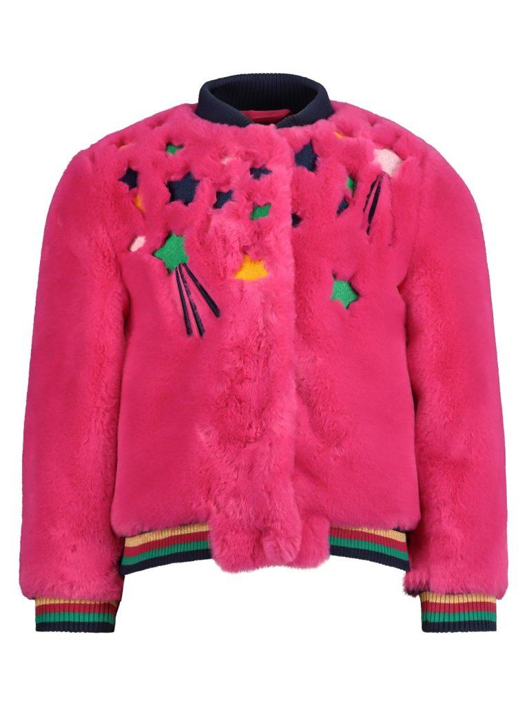 roze winterjas,roze teddy jasje,billieblush winterjas