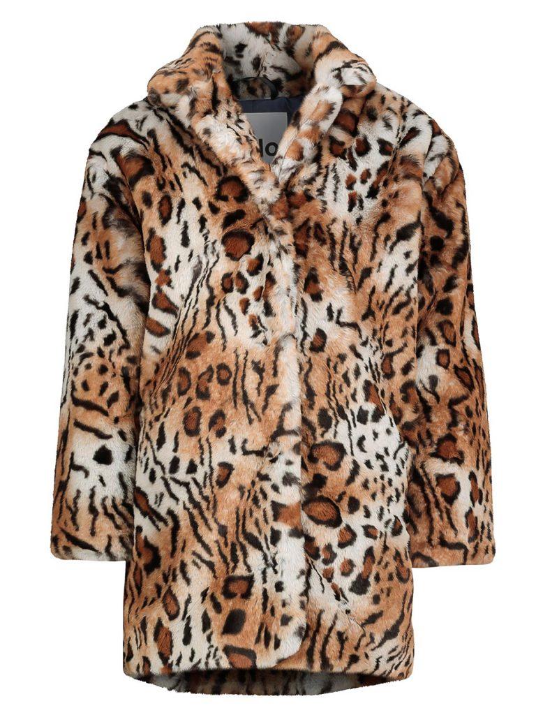 tijgerprint winterjas,dierenprint winterjas,molo winter jas haili