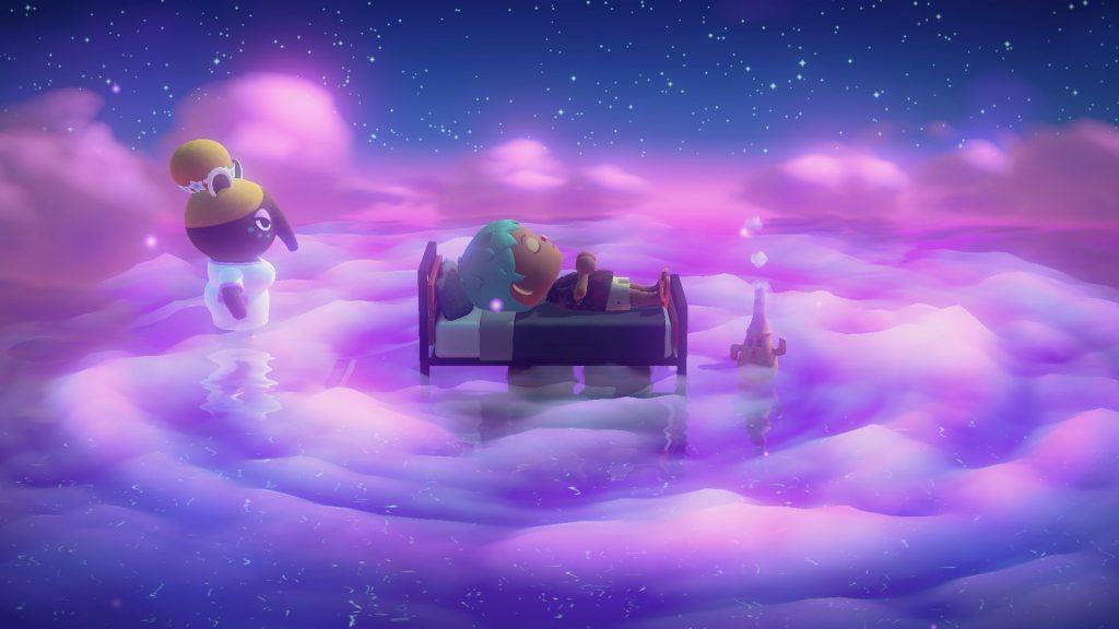 update animal crossing new horizons,zomer update,luna animal crossing,slapen dromen