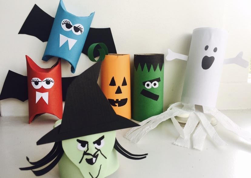 halloween knutselen tips en ideeen,wc rollen halloween,heks knutselen,vampier knutselen,spook knutselen,halloween decoratie maken