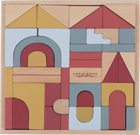 blokken set little dutch,houten blokken,mooie houten blokken set,baby speelgoed,sint cadeau baby,tip sinterklaas cadeau baby,idee sinterklaas cadeau peuter