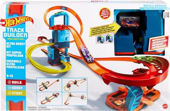 Hot Wheels Track Builder Ultra Boost Kit,hot wheels racebaan,tip sinterklaas cadeau jongen 6 jaar