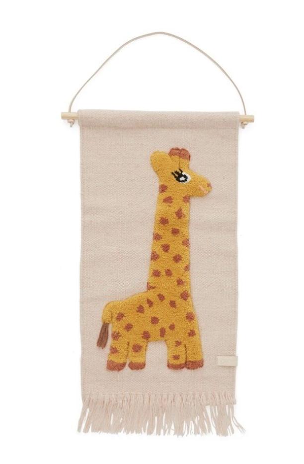 wandkleed kinderkamer tips,oyoy wandkleed giraf,kinderkamer accessoires,accessoires babykamer,wollen wandkleed