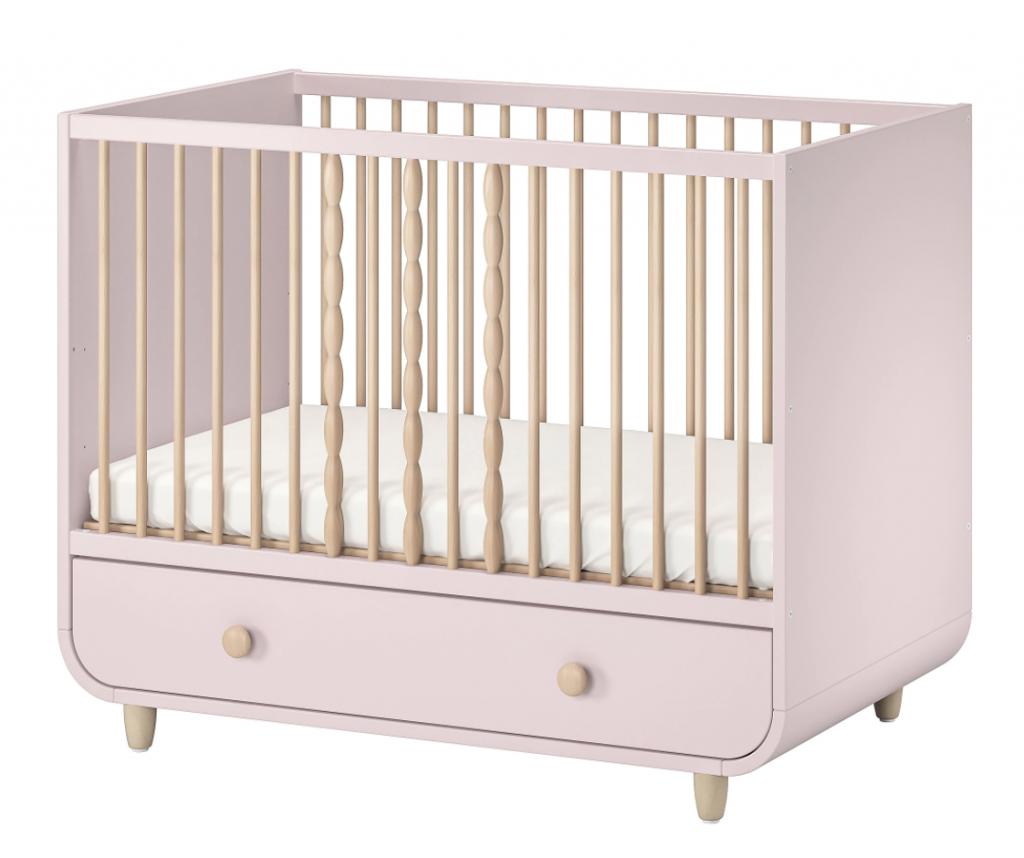 baby bed ikea,babybed ikea,myllra,roze ledikantje,roze babybedje