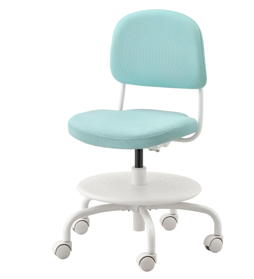vimund bureaustoel blauw,bureaustoel ikea,ergonomische kinder bureaustoel,blauwe kinder bureaustoel,verstelbare bureaustoel kind