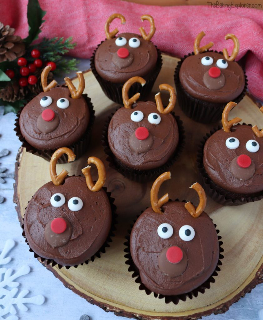 school kerstdiner,rendier cupcakes,rudolph cupcakes,rudolf cupcakes