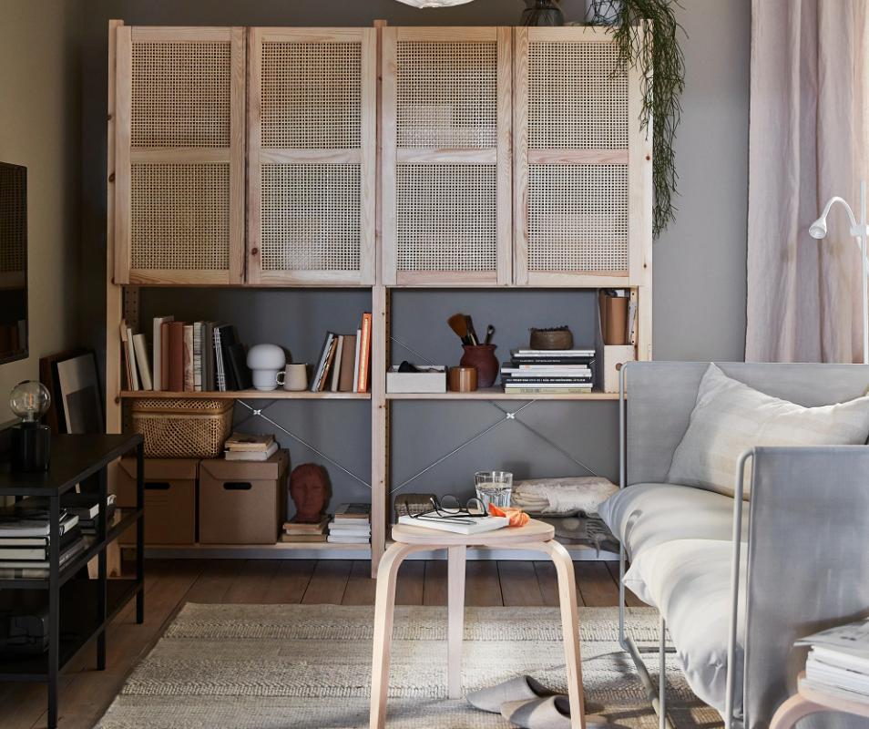 ivar kast,ivar opbergmeubel,bamboe kast,bamboe meubel,grenen meubel,vintage interieur,bohemien interieur,duurzaam interieur,opbergmeubel ikea,ikea ivar