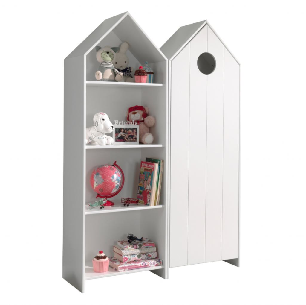 vipack casami boekenkast,huisjes boekenkast,leuke kinder boekenkast,kinderboekenkast,meisjeskast,jongenskast,babykamer boekenkast