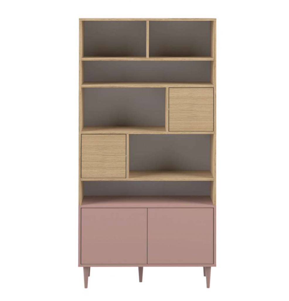 oud roze boekenkast,symbiosis boekenkast esby,oud roze meubel