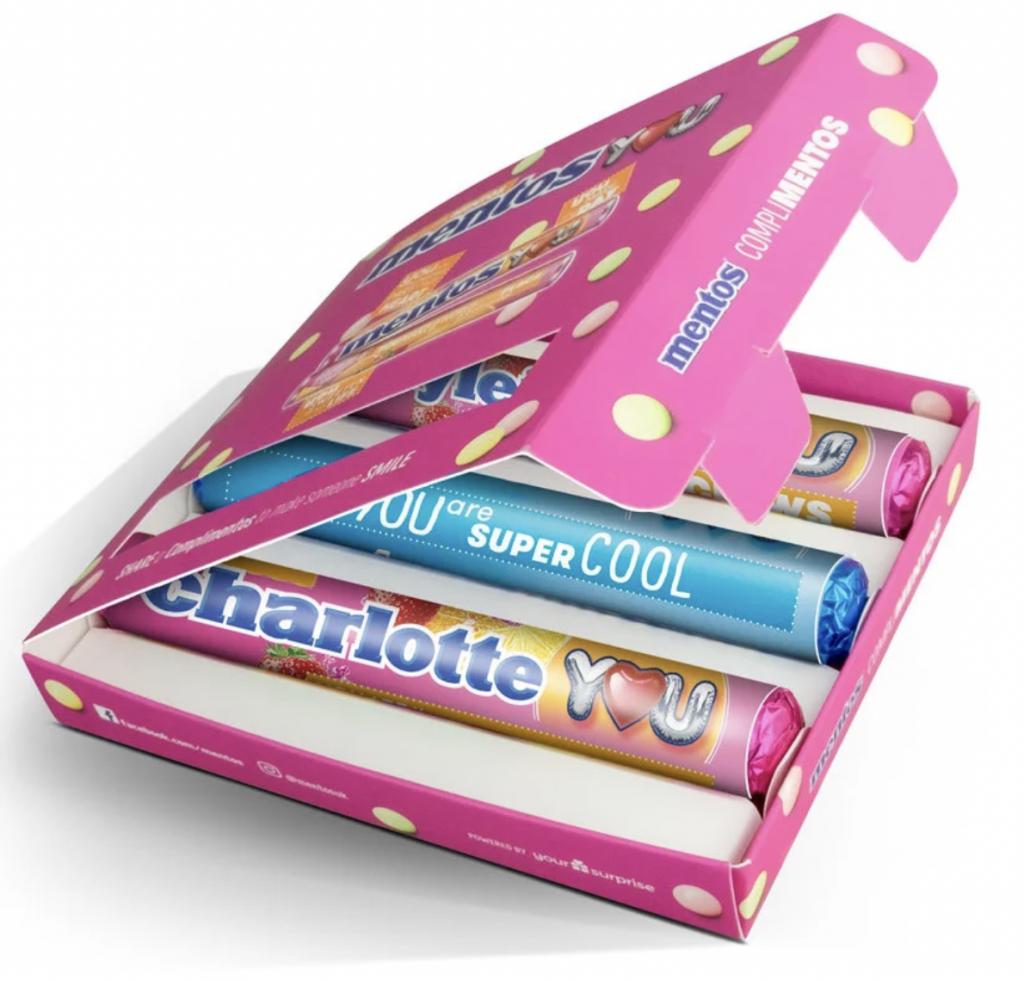 mentos gift box,gepersonaliseerde mentos,mentos valentijnsdag,valentijnsdag cadeautjes tips en ideeen