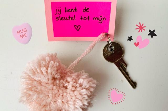 valentijn tips en ideeen,knutsel idee valentijnsdag,sleutelhanger maken