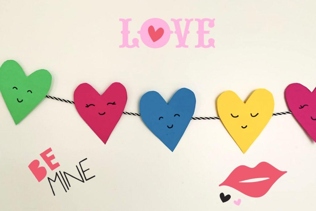 hartjes slinger knutselen,valentijnsdag knutselen tips en ideeen,knutselidee valentijnsdag,