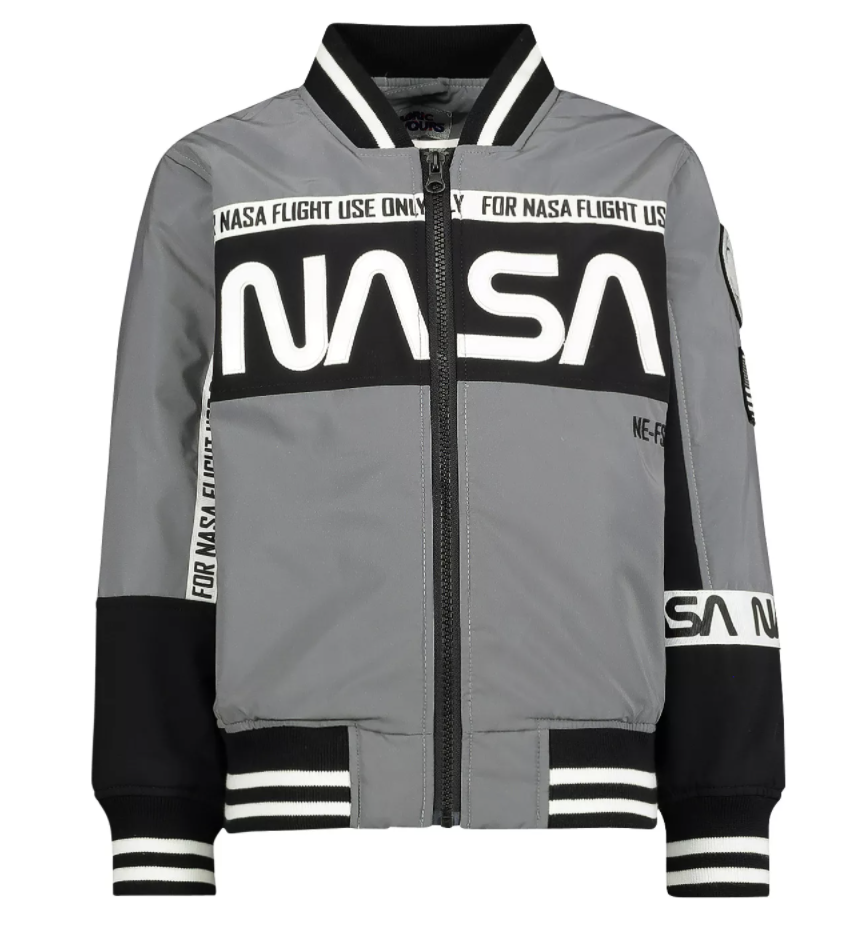 Jas Nasa Flight Commander Bomber Jacket fabric flavours,grijze jongens jas
