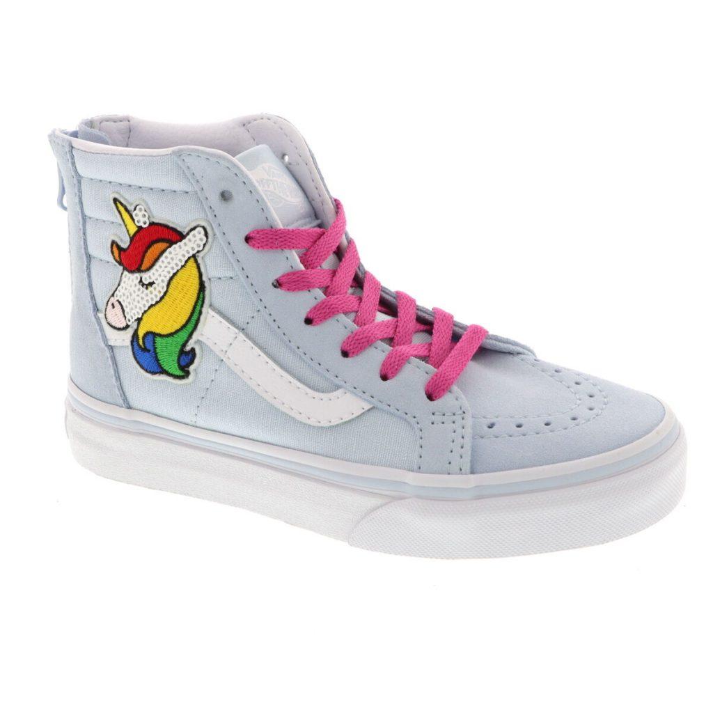 vans unicorn gympen,lichtblauwe gympen,meisjes sneakers vans,unicorn sneakers,voorjaarscollectie meisjes sneakers