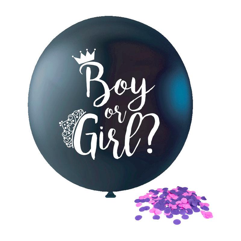 gender reveal party ballon met confetti erin