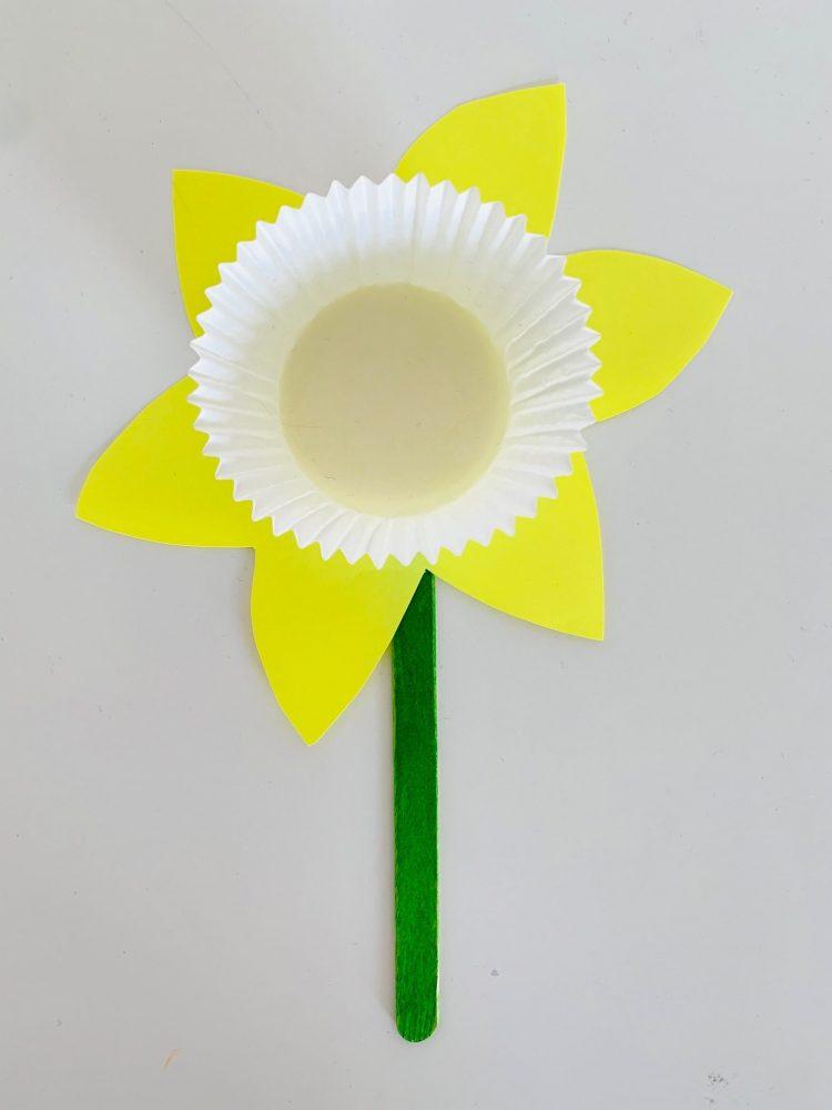 narcis knutselen,narcis maken,voorjaar knutselen