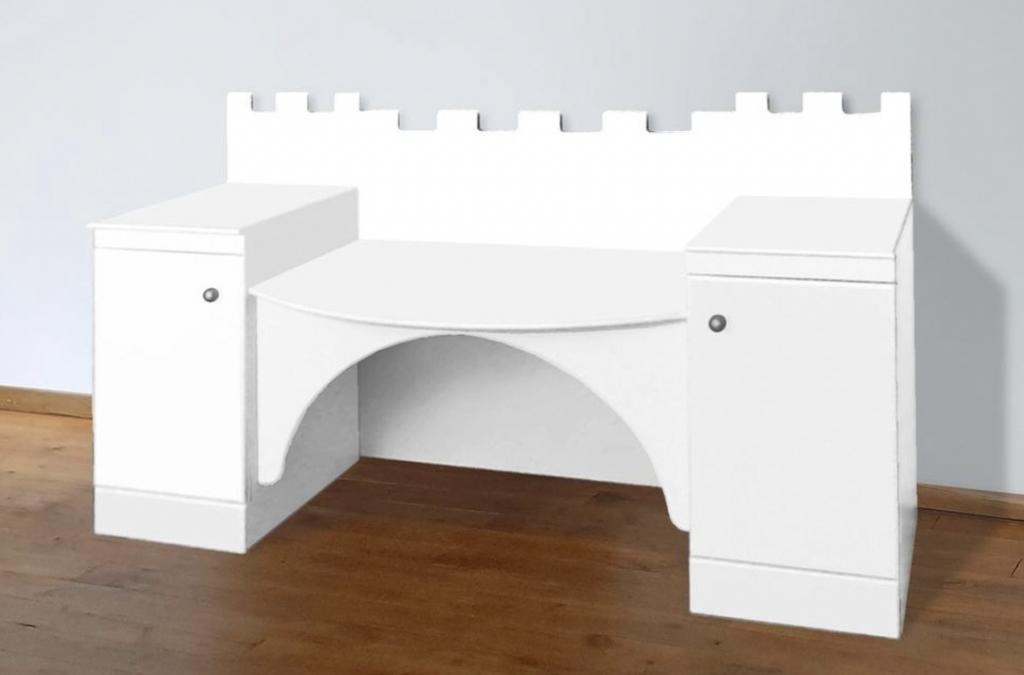 kasteel bureau,prinsessen bureau,wit kasteel bureau
