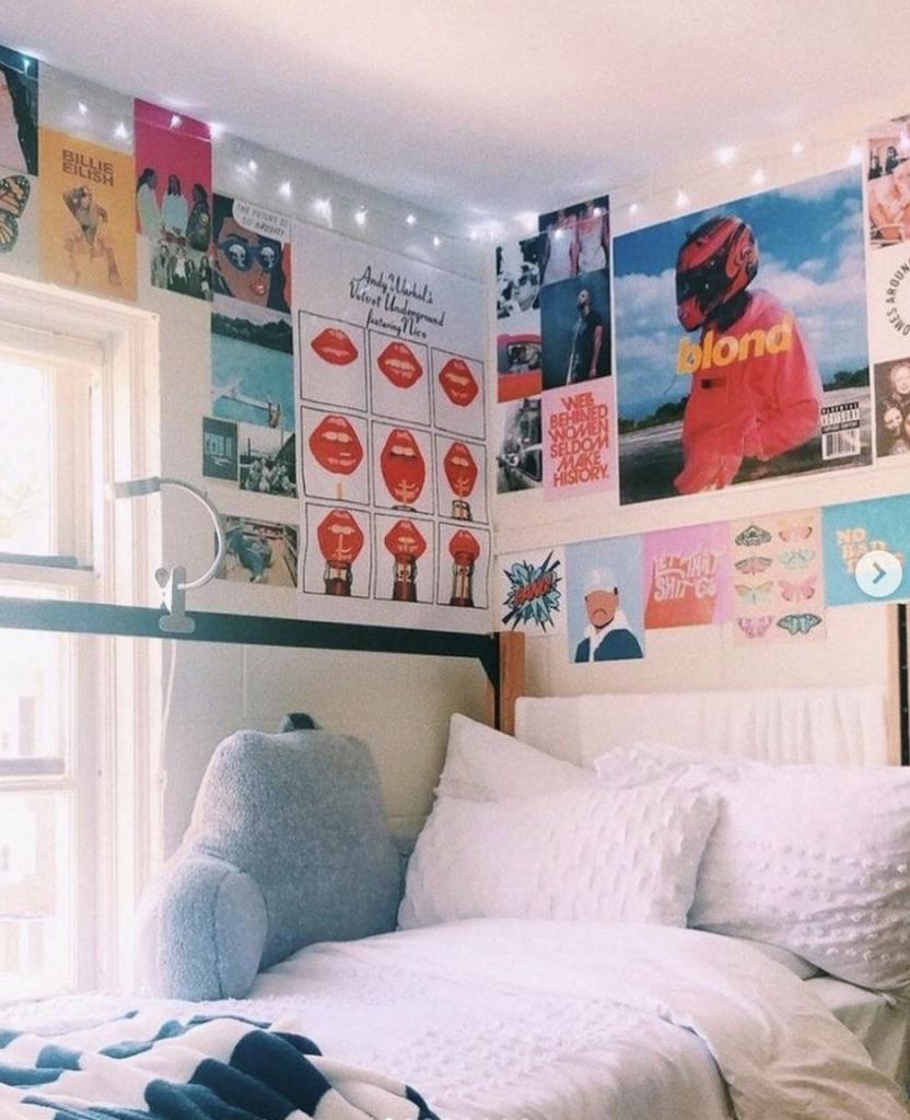 vsco kamer,fotowand slaapkamer,kinderkamer inspiratie,meisjeskamer inspiratie,stoere meidenkamer