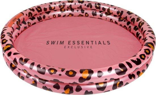 hip kinder zwembadje,opblaasbaar zwembad panter print roze