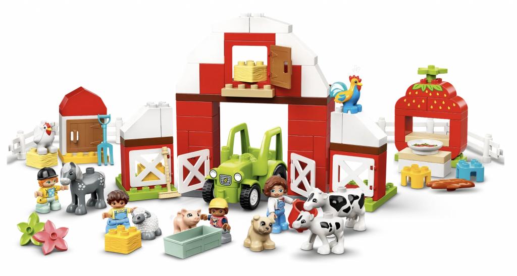 nieuwste lego sets,LEGO DUPLO Schuur, tractor en boerderijdieren verzorgen (10952),cadeau jongen 1 jaar,cadeau jongen 2 jaar,cadeau jongen 3 jaar