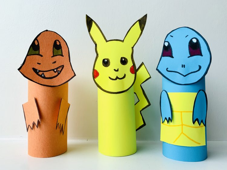 knutselen pokemon,pikachu knutselen,charmander knutselen,squirtle knutselen,pokemon knutseltip idee