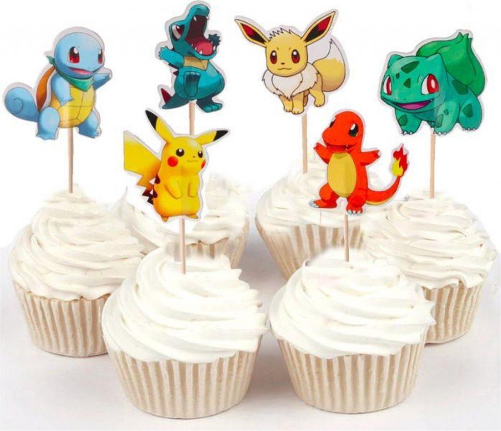 pokemon traktatie,pokemon verjaardag,pokemon feestje,pokemon partijtje,pokemon cupcakes,traktatie tip pokemon,pokemon prikkers