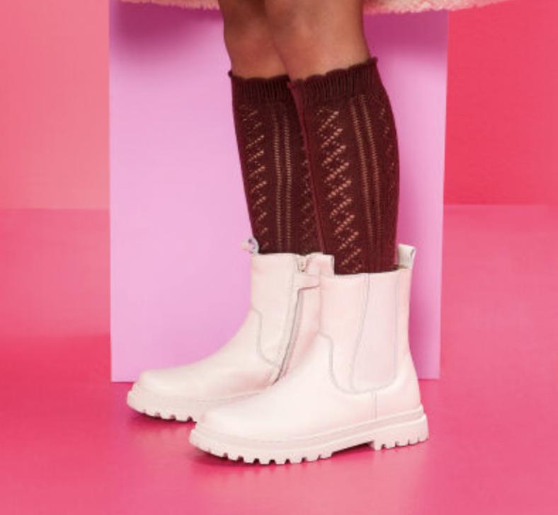 meisjes schoenen,meisjes laarzen wit shoesme,hippe winterlaarzen meisje,meisjes winterschoenen,grove laarzen meisje wit,leren laarzen meisje