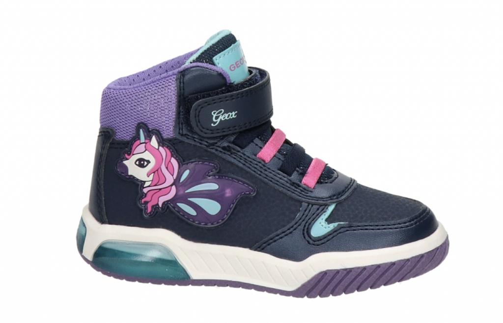 geox inek met lichtjes,meisjes sneakers met lampjes,unicorn gympen,unicorn sneakers,leuke meisjes schoenen,meisjes winterschoenen