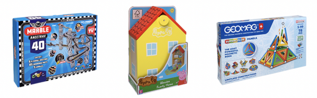 speelgoed van het jaar 2021,marble racetrax,peppa's houten huis,geomag supercolor